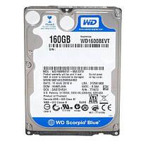 (б/у) Жесткий диск Western Digital Scorpio Blue 160GB 5400rpm 8MB WD1600BEVT 2.5 SATA II