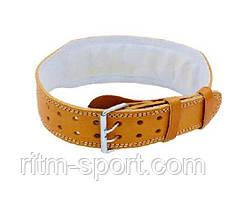 Ремень для тяжелой атлетики на пряжке (кожа), фото 2