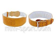 Ремень для тяжелой атлетики на пряжке (кожа), фото 3