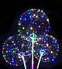 """Светодиодный шар бобо bobo 19"""", Воздушный светящийся на палочке с гирляндой в комплекте  от 50 штук - Фото"""