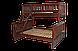 Двухъярусная трехспальная кровать Рита из дерева, Орион, фото 6