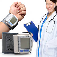 Тонометр цифровой на запястье Automatic wrist watch Blood Pressure Monitor CK-102S, запястный тонометр