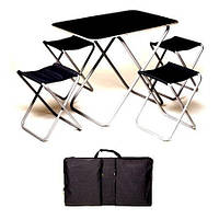 Комплект «пикник» алюм+фанера (стол+4стула) Stenson