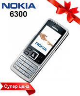 Мобильный телефон NOKIA 6300 (Silver and black), кнопочный телефон нокиа на 2 сим карты, железный телефон