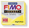 Брусок Fimo Effect полупрозрачный желтый 104 - 56гр.