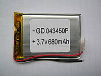 Литиевые аккумуляторы для цифровой техники (LI-POL) 043450P 3.7V 680MAH