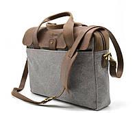 Повседневная сумка в комбинации кожи и ткани RC-1812-4lx от TARWA, фото 1