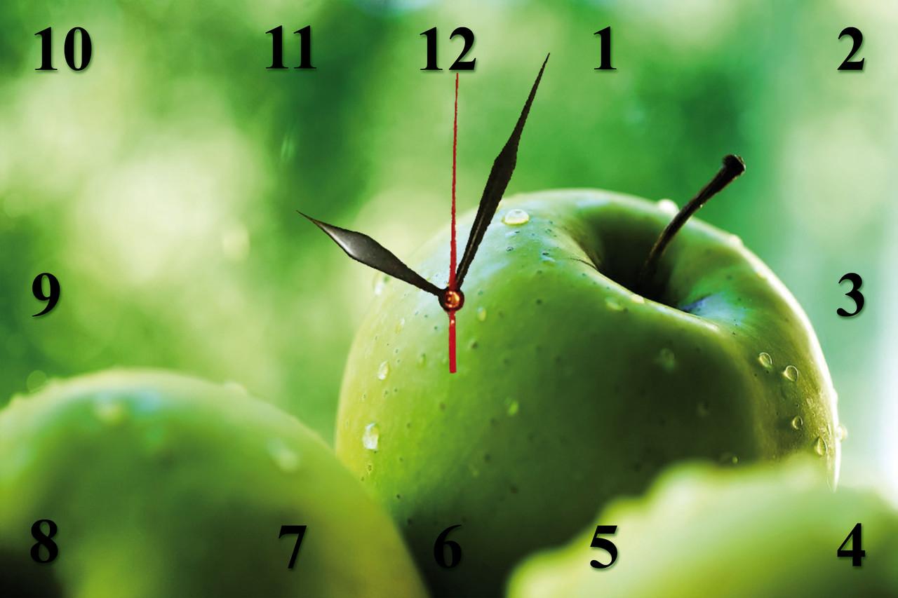 """Настінні годинники """"Зелені яблука"""""""