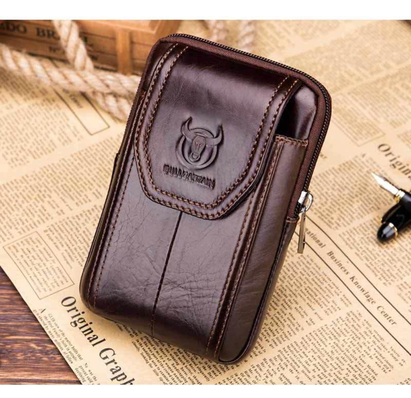 Напоясная сумка Bull T1399 для смартфона з натуральної шкіри