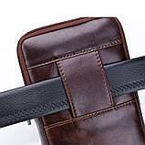 Напоясная сумка Bull T1399 для смартфона з натуральної шкіри, фото 6