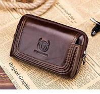 Напоясная сумка Т1347 Bull для смартфона, из натуральной кожи
