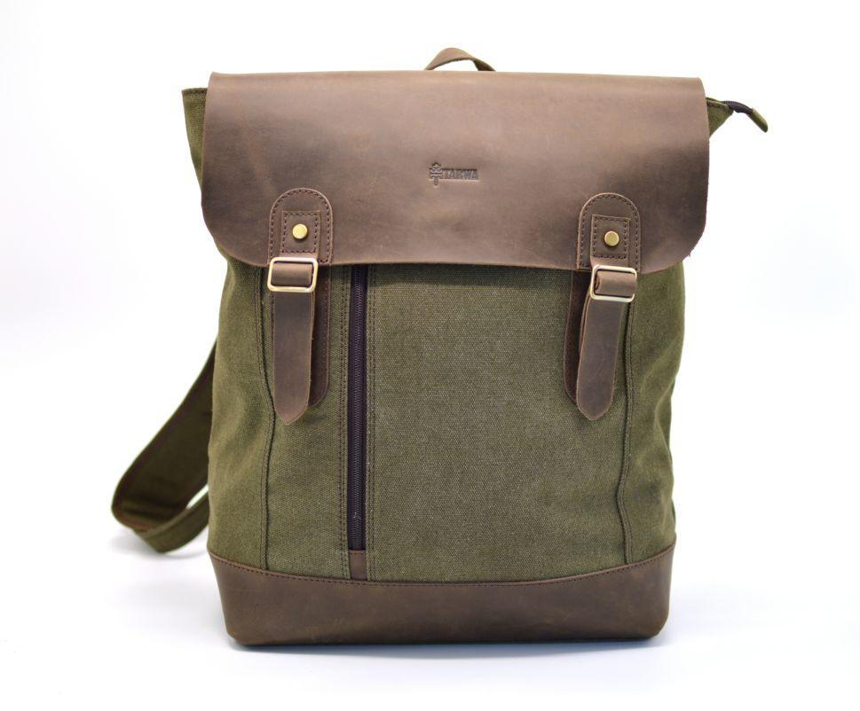 Рюкзак міський, парусина+шкіра RC-3880-H від бренду TARWA