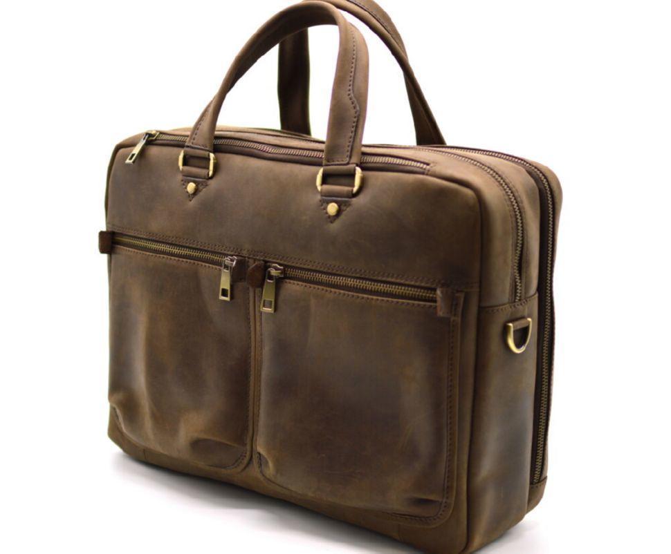 Мужская кожаная деловая сумка  RC-4664-4lx TARWA