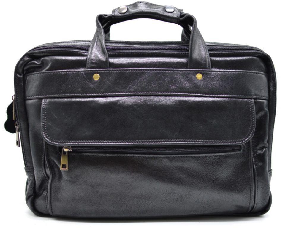 Мужская сумка на три отделения из кожи наппа TARWA VA-7146-3md