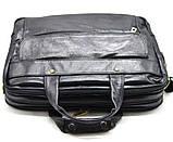 Мужская сумка на три отделения из кожи наппа TARWA VA-7146-3md, фото 3