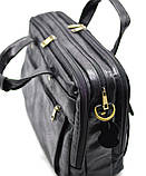 Мужская сумка на три отделения из кожи наппа TARWA VA-7146-3md, фото 6