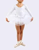 Купальник-пачка детский для выступлений белый