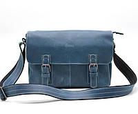 Мессенджер из кожи крейзи хорс, наплечная сумка TARWA, RK-6002-3md, фото 1