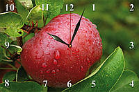 """Настенные часы кухонные """"Красное яблоко"""""""