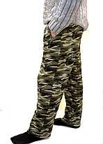 Штаны мужские  камуфляжные зимние - трикотаж Брюки спортивные теплые Tovta, фото 3