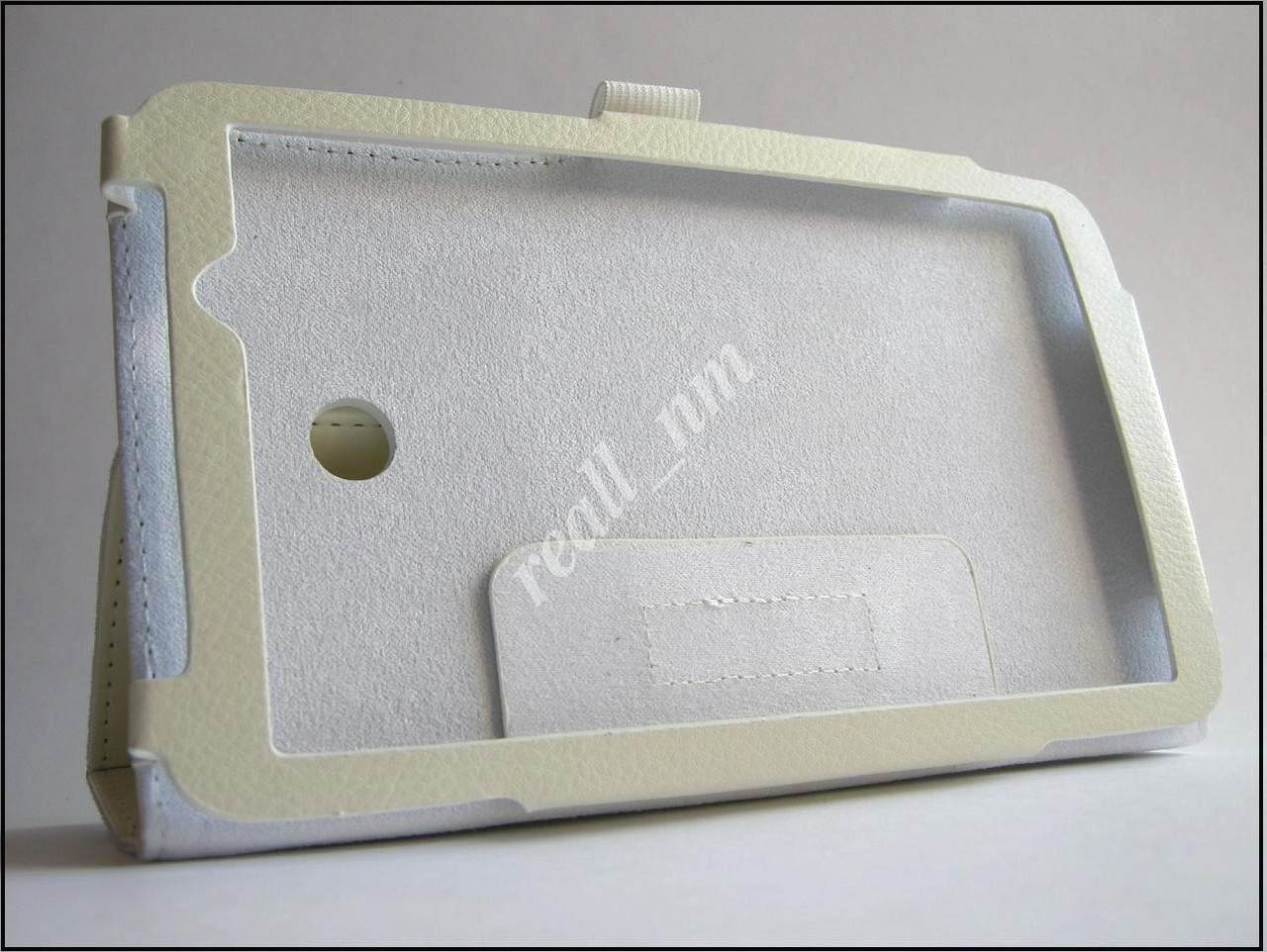 Белый кожаный чехол-книжка Folio Case для Asus Memo Pad 7 Me70C Me70CX
