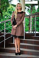 """Платье """"Блюз"""",склад№2-молоко в 42р,коричневый-в 46р-остаток!"""