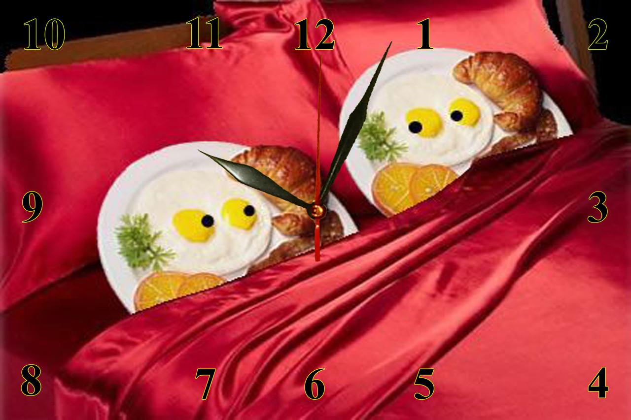 """Настенные часы кухонные кварцевые """"Завтрак в постель"""""""