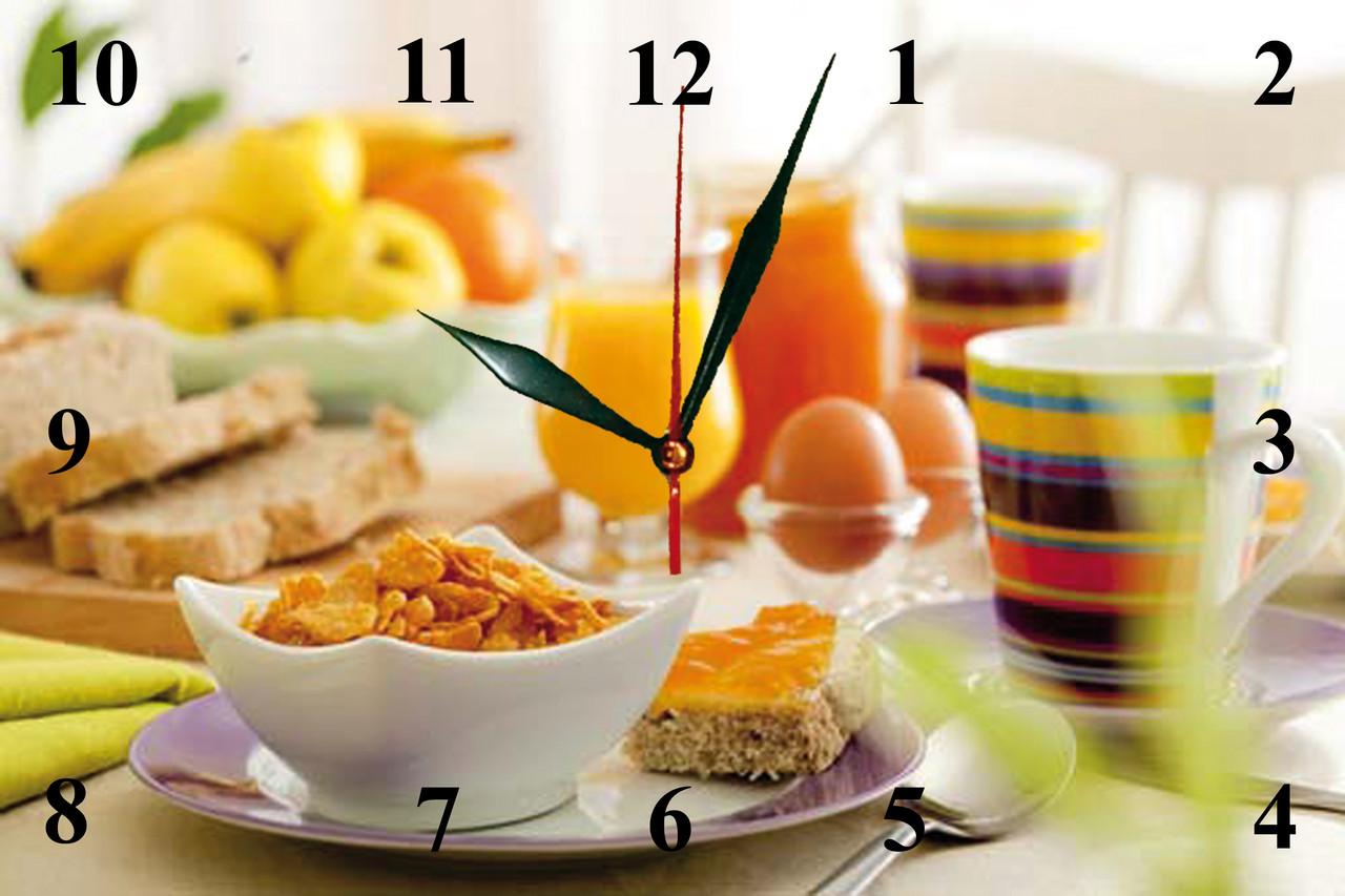 """Настінні годинники МДФ кухонні кварцові """"Легкий сніданок"""""""