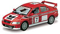 Автомодель  металлическая 1:36 Mitsubishi Lancer Evolution VII WRC KT5048W Kinsmart