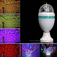 Диско лампа LASER Rotating lamp,вращающаяся светодиодная диско лампа