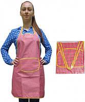 Фартук для повара красные квадратики