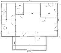 Дом 10м х 6м с терассой 6м х 2,5м