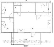 Будинок 10м х 6м з терасою 6м х 2,5 м