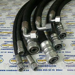 Рукав высокого давления РВД S41 (М33 х 1,5; М33 х 2; М36 х 2) L-0,4 м ( Н.036.86.01 (давление-215 МПа) )