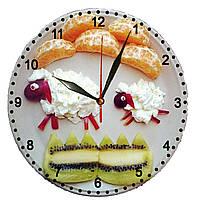 """Настенные часы МДФ кухонные """"Десерт ягнята"""" кварцевые, фото 1"""