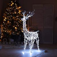 Гирлянда внешняя Adenki Олень новогодний светодиодный 124 см Белый (5-124WTITE)