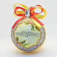 """Шар новогодний ретро стиль Мавка """"рождество"""" d 8 см 1 шт (e5a2c2)"""