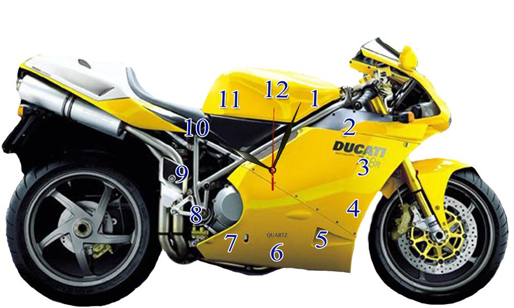 """Детские настенные часы МДФ мотоцикл """"Ducati"""""""