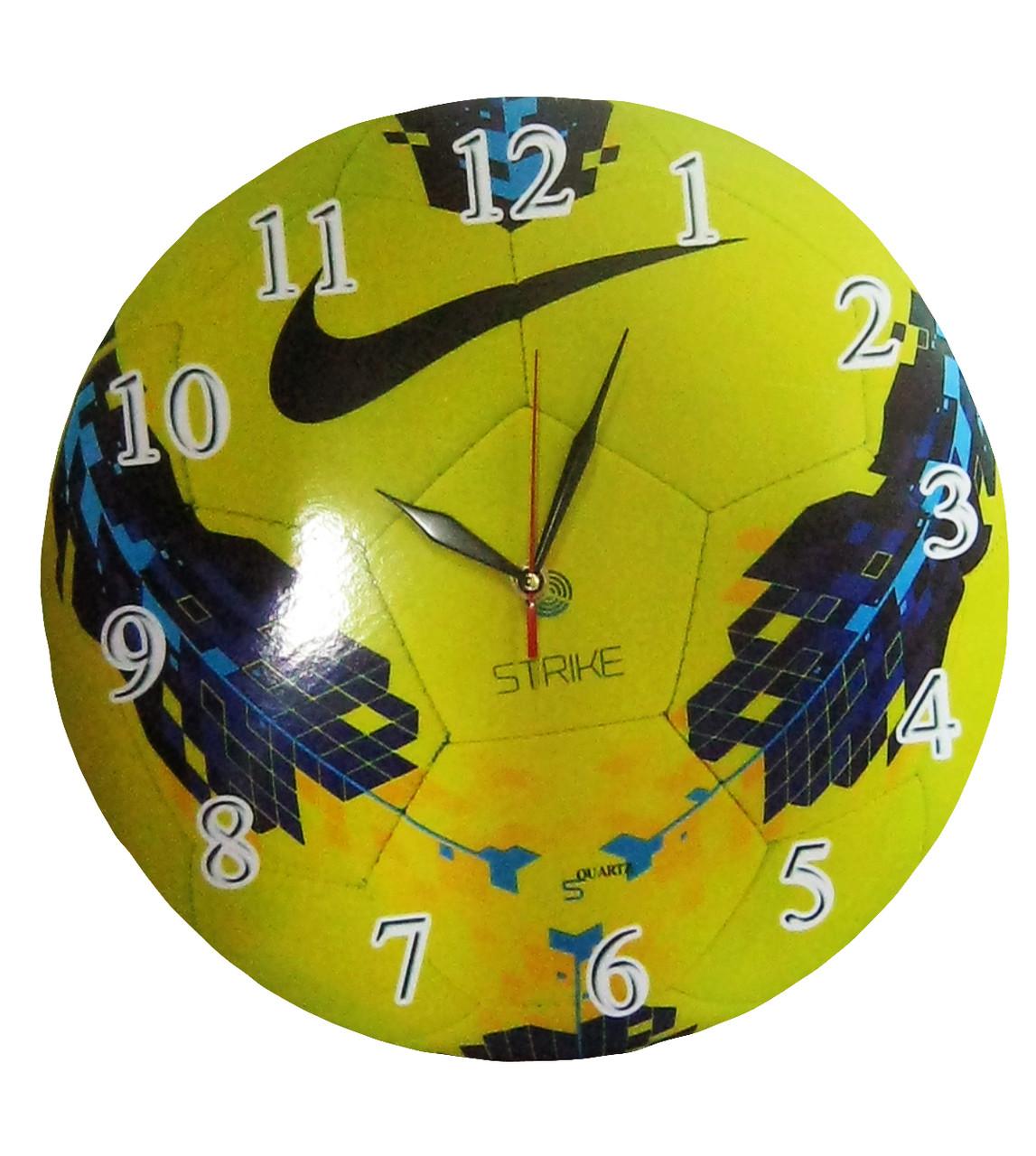"""Настенные часы """"Мяч Nike"""" из стекла"""