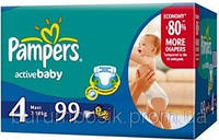 Подгузник Pampers Active Baby Midi 4(7-11 кг)-99 шт.