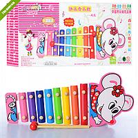 Деревянная Развивающая Игрушка Ксилофон MD0993 Happy Tunes, Детский Деревянный Ксилофон 0993