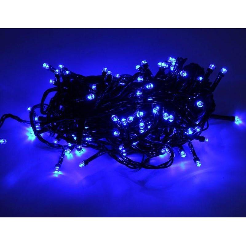 Гирлянда 500 LED 36м синяя на черном проводе