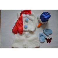 Карнавальный костюм снеговичек.