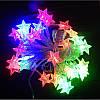 Гирлянда звезды 30 LED на батарейках цвет тепло белый, фото 2