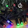 Гирлянда профессиональная светодиодная нить 100 LED 10м на черном проводе уличная цвет мульти, фото 2