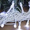 Гирлянда профессиональная светодиодная нить 100 LED 10м на белом проводе уличная цвет белый, фото 2