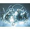 Гирлянда профессиональная светодиодная нить 100 LED 10м на белом проводе уличная цвет белый, фото 3