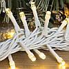 Гирлянда профессиональная светодиодная нить 100 LED 10м на белом проводе уличная цвет теплый белый, фото 2