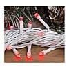 Гирлянда профессиональная светодиодная нить 100 LED 10м на белом проводе уличная цвет красный, фото 2