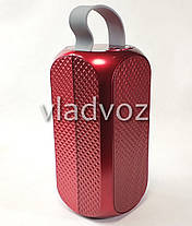 Портативная блютуз колонка акустика bluetooth для телефона мини с флешкой повербанк радио FM красная J29, фото 2